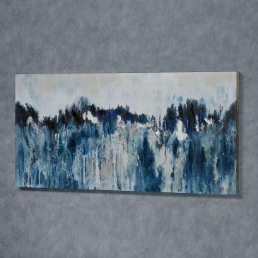 Rhapsody in Blues Abstract Canvas Wall Art