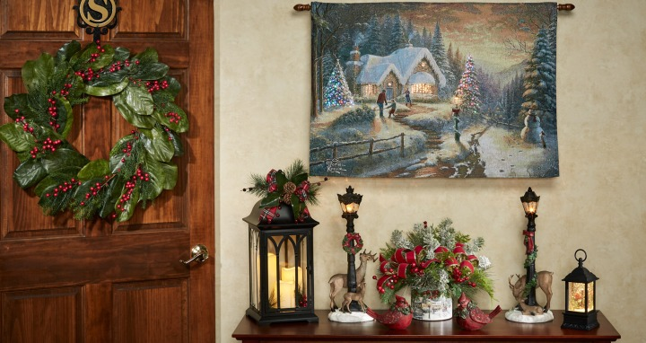 Victorian Christmas Entryway