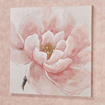 Make Me Blush Flower Blossom Canvas Wall Art