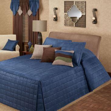Camden Indigo Blue Oversized Bedspread