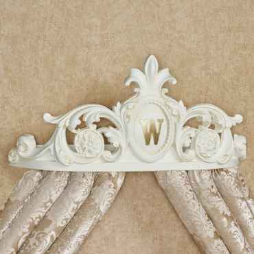Genevieve Antique White Wall Teester Bed Crown