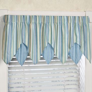 Clearwater Coastal Layered Ascot Valance