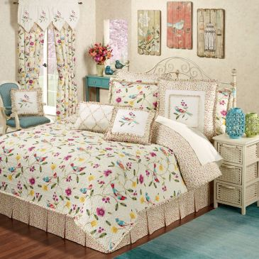 Sweet Tweet Quilt Set Bedding