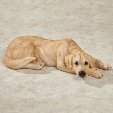Yellow Labrador Retriever Dog Sculpture