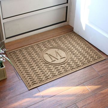 Chevron WaterHog Monogram Doormat