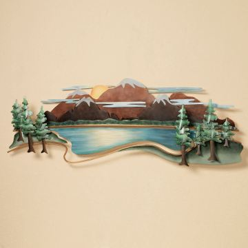 Mountain View Wall Sculpture by JasonW Studios