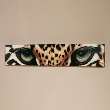 Leopard Eyes Canvas Wall Art