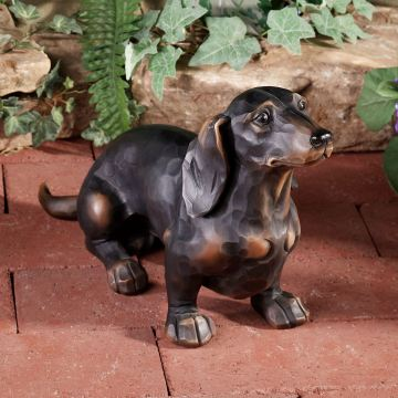 Morning Walk Dachshund Dog Wall Sculpture
