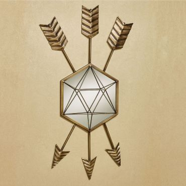 Follow Your Arrow Mirrored Metal Wall Art