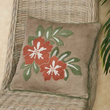 Camden Tropical Floral Decorative Pillow