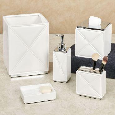 Quilt Ceramic Bath Accessories