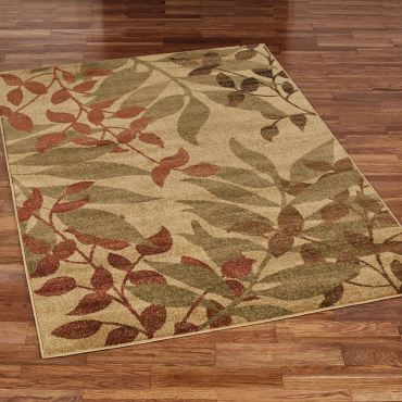 Fall Reflections Autumn Leaf Area Rugs