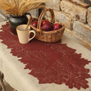 Falling Leaves Lace Table Runner