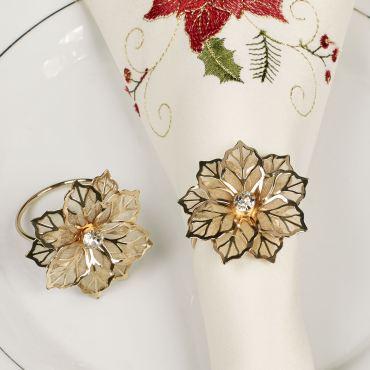 Poinsettia Lace Napkin Rings
