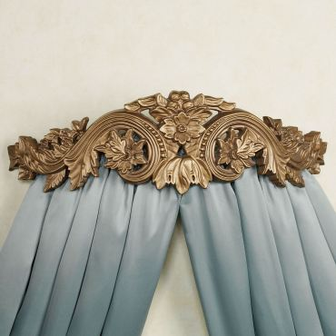 Flowering Medallion Wall Teester Bed Crown
