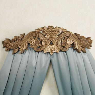Flowering Medallion Wall Teester Bed Crown