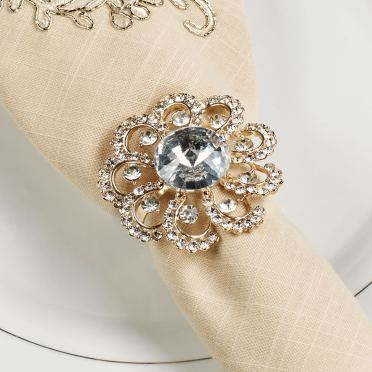 Jeweled Elegance Napkin Rings