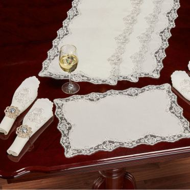 Evangelina Ivory Lace Placemats