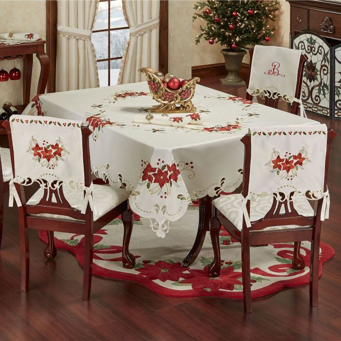Poinsettia Palace Holiday Table Linens