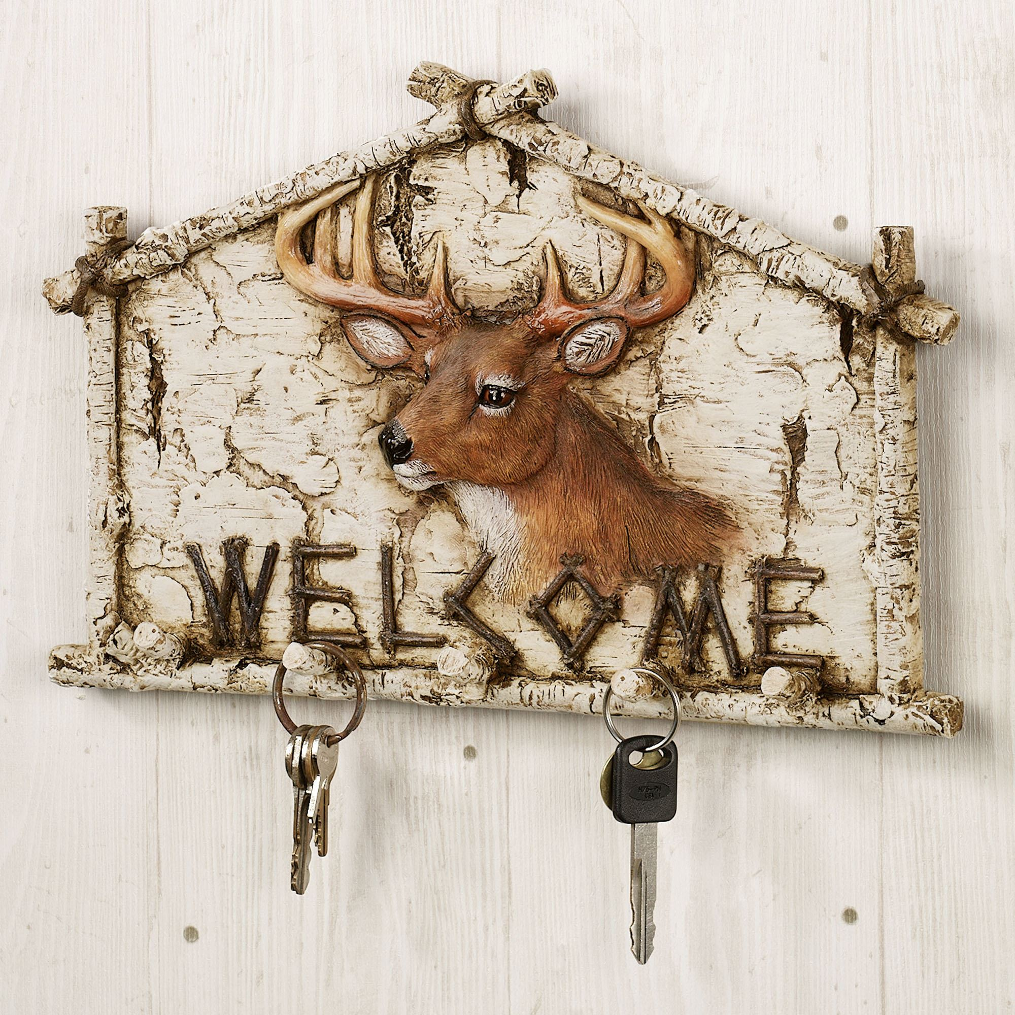 Deer Welcome Wall Hook Rack