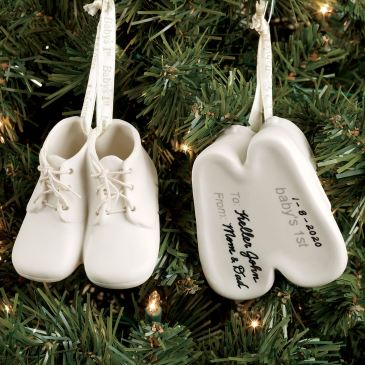 Baby Bootie Keepsake Ornament