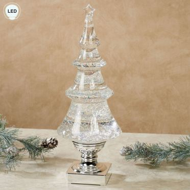 Swirling Glitter Lighted Tree Table Accent