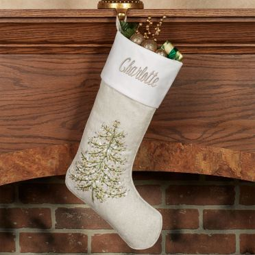 Winter Garden Christmas Tree Stocking