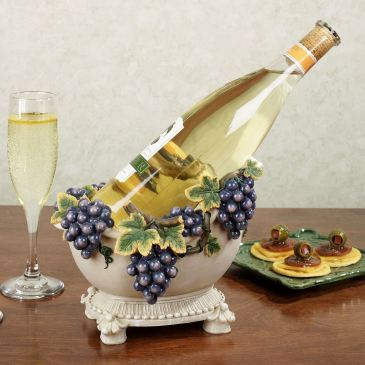Vintage Urn Grapes Wine Bottle Holder