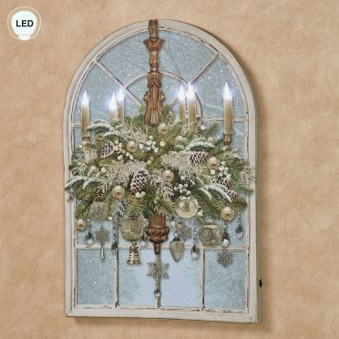 Christmas Chandelier LED Lighted Canvas Wall Art