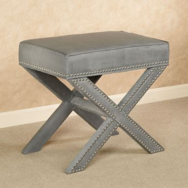 Lenora Gray Accent Stool