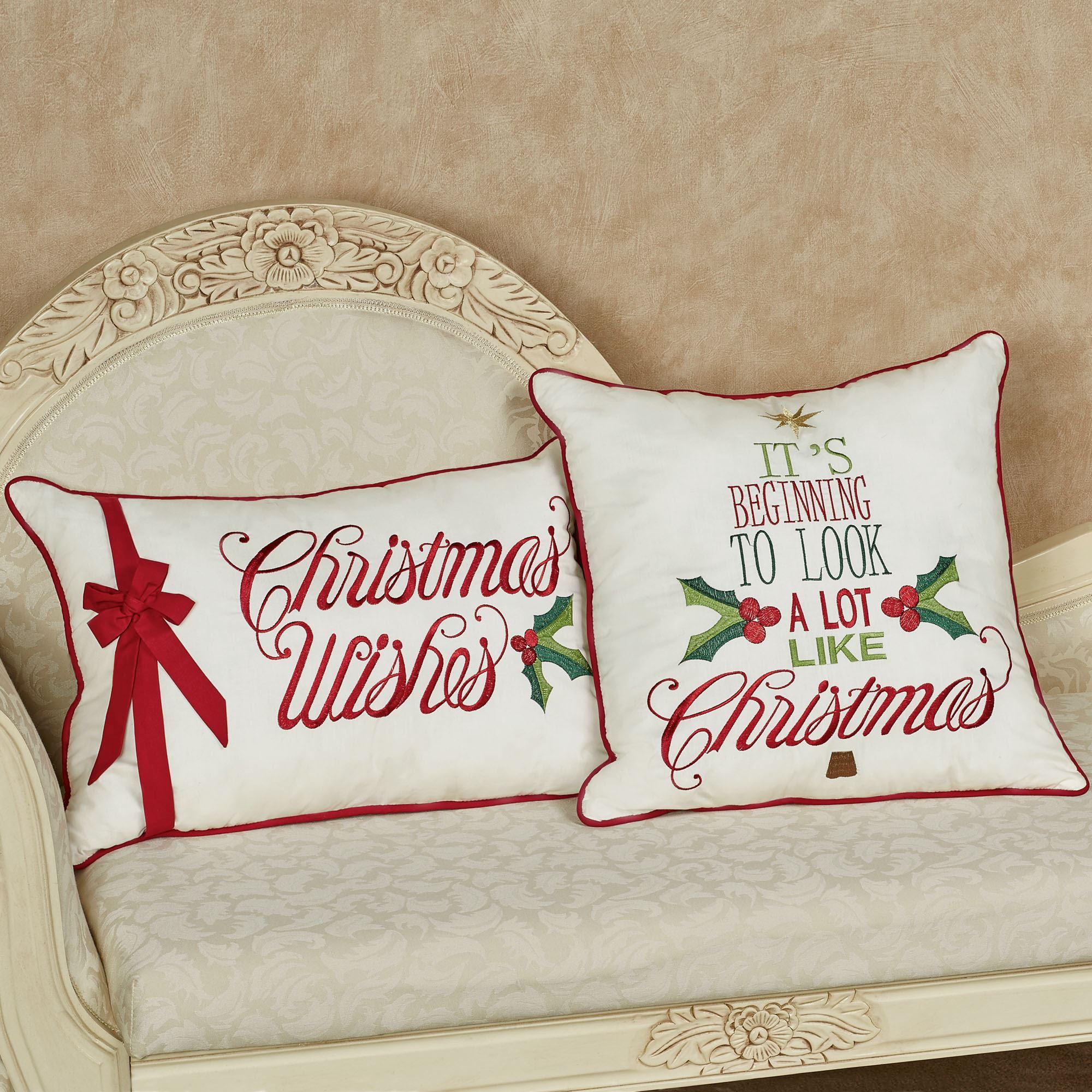 Holiday Greetings Christmas Pillows