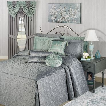 Cambridge Classics Warm Gray Fitted Bedspread Bedding