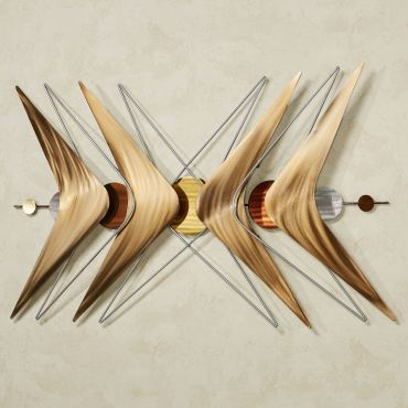 Reverb Mid Century Modern Abstract Metal Wall Sculpture