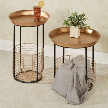 Macayle Retro Round Accent Tables