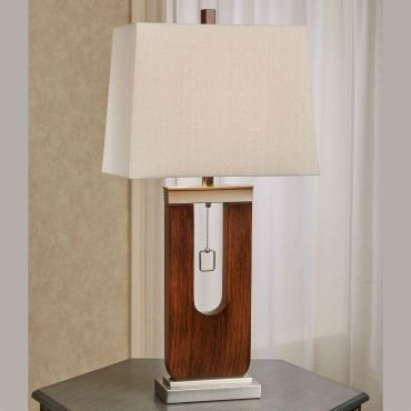 Jonna Faux Woodgrain Table Lamp