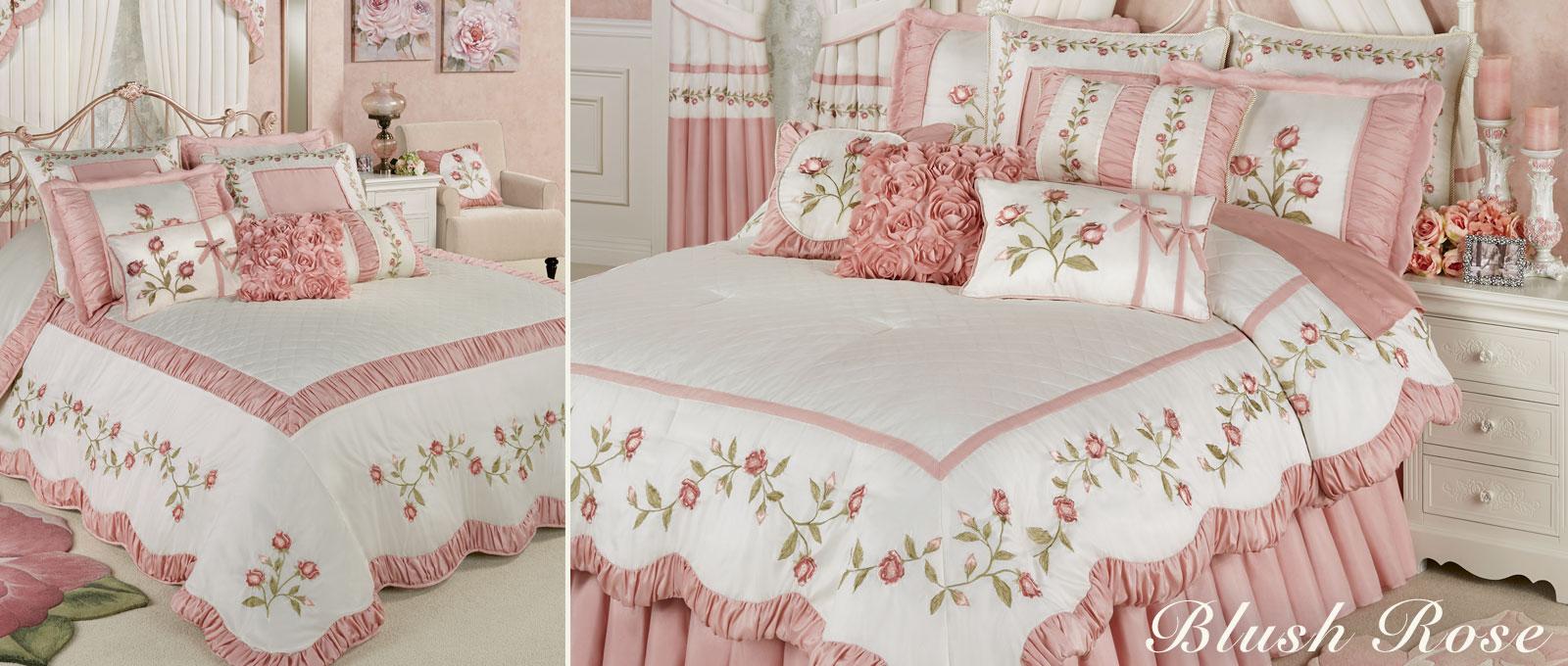 Blush Rose Floral Bedding