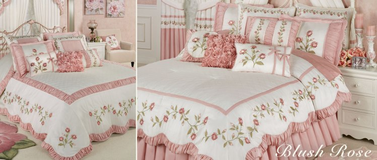 Blush Rose Floral Bedding