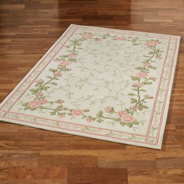 Blush Bloom Floral Rug