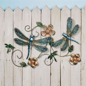 Dragonfly Garden Metal Wall Sculpture