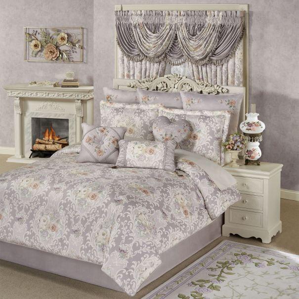 Romantica Floral Damask Comforter Set