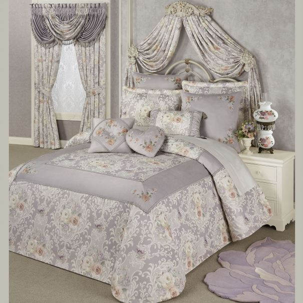 Romantica Floral Damask Bedspread Bedding