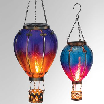 Hot Air Balloon LED Solar Lanterns