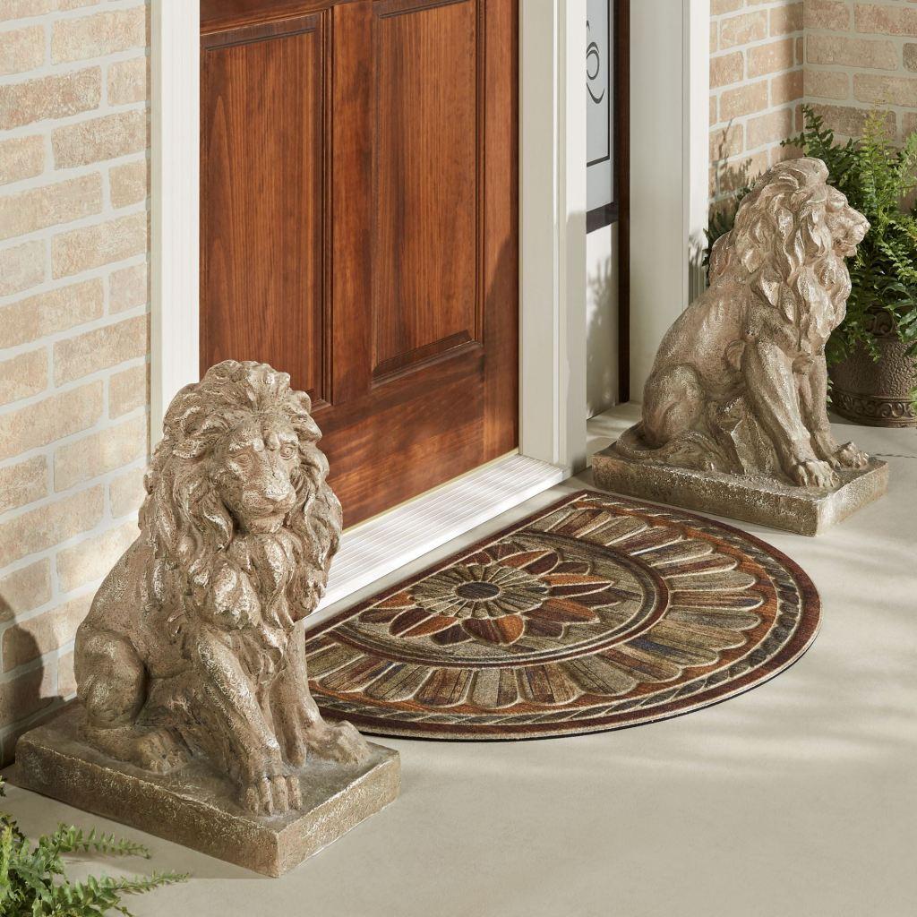 Lions at Guard Outdoor Sculptures