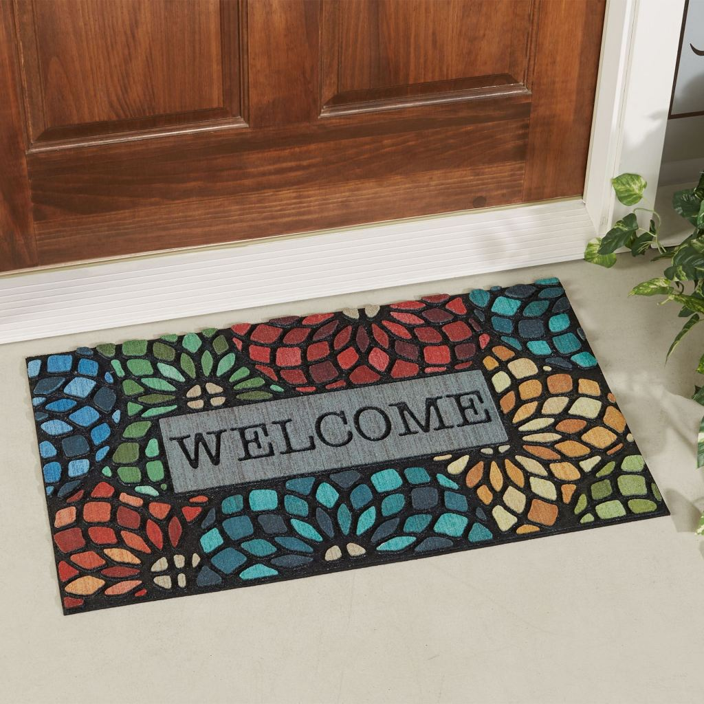 Stained Glass Florets Doormat