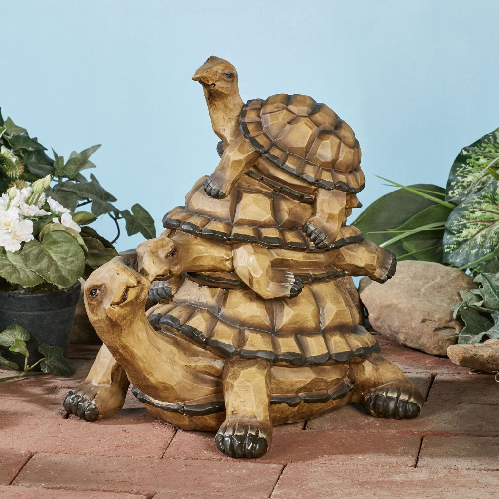 Turtle Family Sculpture