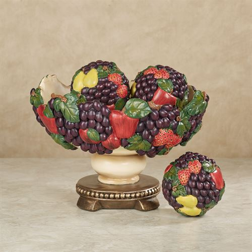 Tuscan Fruit Centerpiece Bowl and Orbs